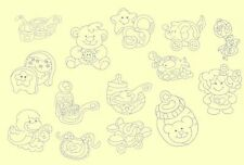 Baby Things Redwork Machine Embroidery Designs-Anemone Embroidery Designs