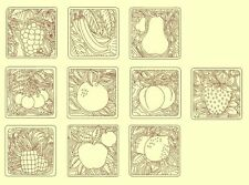 Fruit Redwork & Trapunto Machine Embroidery Designs-30Anemone Embroidery Designs