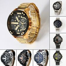 Fashion Men's Army Sport Big Dial Quartz Stainless Steel  Digital Wrist Watch
