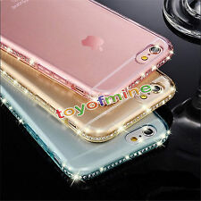Luxury Crystal Diamond Silicone TPU Gel Soft Case Cover For iPhone 5 6 6S 7 Plus