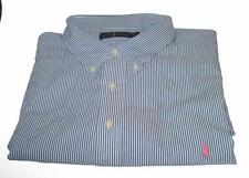 POLO RALPH LAUREN Mens Shirt Big Tall NWT Reg$98 ~ Blue White Stripe NEW!