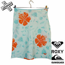 QUIKSILVER ROXY 'SURF N SAFARI' WOMENS SKIRT BLUE FLORAL SURF UK 10 12 RRP £28