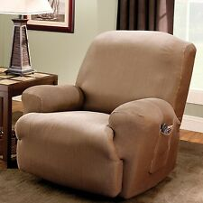 Sure Fit Stretch Stripe Recliner T-Cushion Slipcover