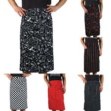 New Arrival  Stripe Half Apron With Pocket Chef Waiter Kitchen Cook Fashion TB