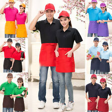 Waist Pocket Bar Cafe Cooking Waiter Restaurant Kitchen Waitress Bib Dress Apron