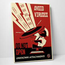 'Avoid Viruses' by Steve Thomas Vintage Advertisement on Wrapped Canvas
