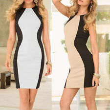 Sexy Womens Sleeveless Bandage Bodycon Evening Party Cocktail Club Mini Dress OP