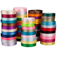"""Satin Ribbon 25yards 1/8""""~1.5"""" inch various colours wedding party decorating bow"""