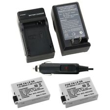 2x LP-E8 Battery & 1x Car Home Charger For Canon Rebel T5i T4i T3i EOS 550D 600D
