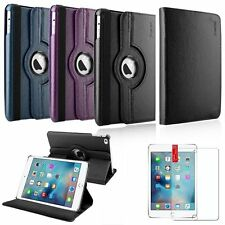 360 Degree Rotating Flip Leather Stand Cover Case For iPad Mini 4+Screen Film
