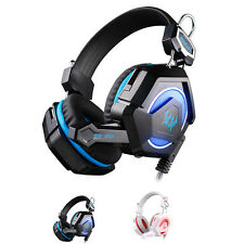 Stereo Headphone Computer Game Headset Headband with Mic Colorful LED Light