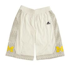 Michigan Wolverines ADIDAS Iced Out White Basketball Shorts Men's
