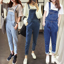 Sexy Lady Denim Overall Jumpsuit Romper Women Long Jeans Pants Overall Trousers