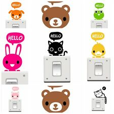 1X New Lovely Animal Pattern Switch Wall Stickers Bedroom Home Wall Decoration