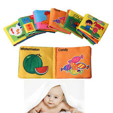 Baby Cloth Intelligence Development Learning Picture Educational Cognize Books X