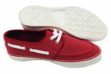Baracuta Red Lido Canvas Shoes Quality British Brand Size 45 Brand New in Box