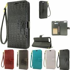 Luxury Magnetic Flip Crocodile Leather Wallet Case Card Cover For iPhone 7/7Plus