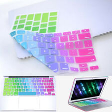 """Silicone Keyboard Cover Protector Skin For MacBook Pro Air Mac Retina 13"""" 15"""" US"""