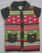 Gymboree Loveable Giraffe Girls Sweater 2T New Cardigan Stripes Hearts Nwt