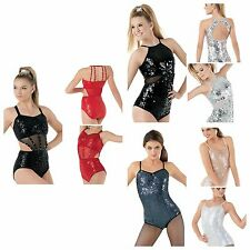 NEW Dance Jazz Theatre Baton Sequin Leotard Competition Costume Child & Adult