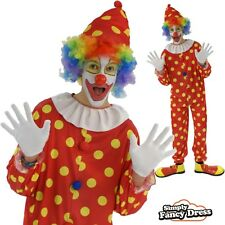 Adult Bobbles the Clown Circus Party Outfit Fancy Dress Costume