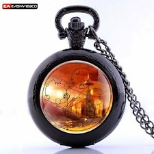 New Antique Steampunk Stainless  Necklack Pendant Pocket Retro Watch Quartz Gift