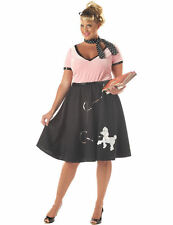 1950s Sweetheart Plus Size Womens Fancy Dress Costume Outfit