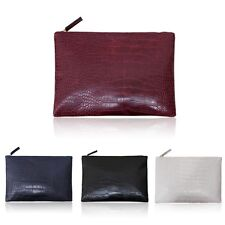 Women Party PU Leather Handbag Crocodile Pattern Clutch Envelope Messenger Bag