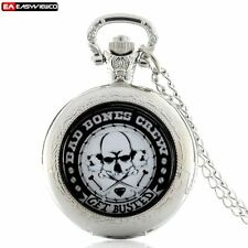 Vintage Crew Pendant New Quartz Pocket Necklace Chain Gift Watch Retro Steampunk