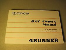 "2007 TOYOTA 4RUNNER OWNERS MANUAL DEAL ""FAST FREE U.S. SHIPPING"""