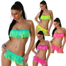 Sexy Bikini Bandeau Fringes Neckholder Top Panties Bikini set Push Up (MD-9067)
