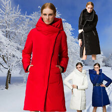 Fashion Women Long Warm Hooded Down Jacket Cold Winter Protection Clothing Coat