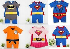 Costume Superman Supergirl Batman Wukong Baby Embroidered Romper Outfit Bodysuit