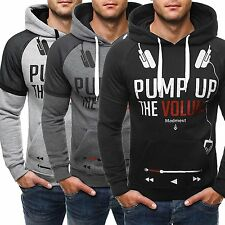 TOPS Men Winter Print Hoodies Warm Hooded Sweatshirt Coat Jacket Outwear Sweater