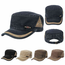 Men Women Snapback Adjustable Army Plain Hat Cadet Military Baseball Sport Cap