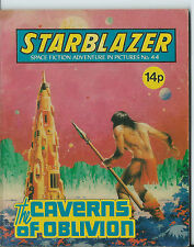 THE CAVERNS OF OBLIVION,STARBLAZER SPACE FICTION ADVENTURE IN PICTURE,NO.44,1981
