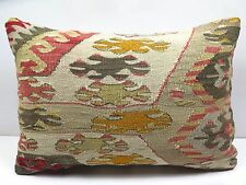 "Turkish Rug Kilim Kelim Lumbar Pillow Cover 20"" X 14"" Kilim Rug Throw Pillows"