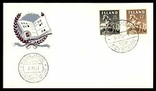 MAYFAIR99 ICLEAND 1958 HORSES FDC UNSEALED & UNADDRESSED FIRST DAY COVER