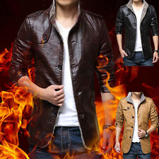 Men's Faux Leather Motorcycle Jacket Tops HOT Slim Fit Bussiniess Outwear Coat