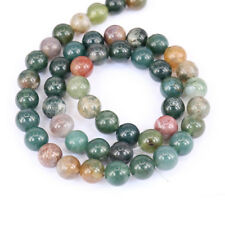 1Bunch New Round India Agate Loose Bead Charming Pendant Necklace Jewelry Making