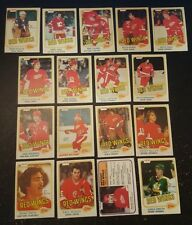 1981-82 OPC DETROIT RED WINGS Select from LIST NHL HOCKEY CARDS O-PEE-CHEE