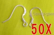 SALE Wholesale 50 pairs(100 pieces) Sterling Silver S925 Earring Hooks-who106