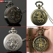Antique Necklace Alchemist Pendant Quartz Pocket Gift Watch Vintage Steampunk