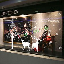Window Christmas Fawn Home Bedroom Decor Removable Wall Sticker Decal Decoration