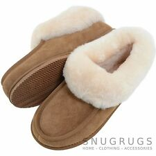 Ladies / Womens Luxury Sheepskin Slipper Boot /Booties with Rubber Sole