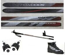NEW EXPLORER XC cross country 75mm SKIS/BINDINGS/BOOTS/POLES PACKAGE - 180cm
