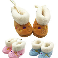 Winter Warmer Baby Toddler Infant Girl Snow Boots Soft Sole Prewalker Crib Shoes