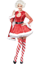 Ladies Sexy Mrs Santa Claus Christmas Outfit Xmas Fancy Dress Costume