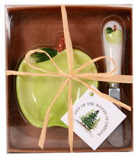Out of the Woods of Oregon Apple Bowl & Spreader 2 Piece Set