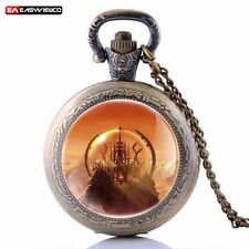 Antique Cliff Steampunk Necklace Pendant Quartz Pocket Gift Watch Retro Vintage